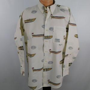 Chaps Ralph Lauren long sleeve nautical shirt. M